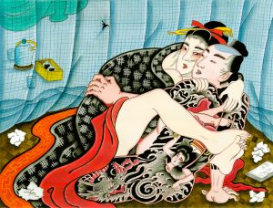 anna melo, the secret garden, erotic book, shunga book