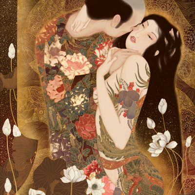 sensual art, art nouveau, klimt, vienna, the kiss